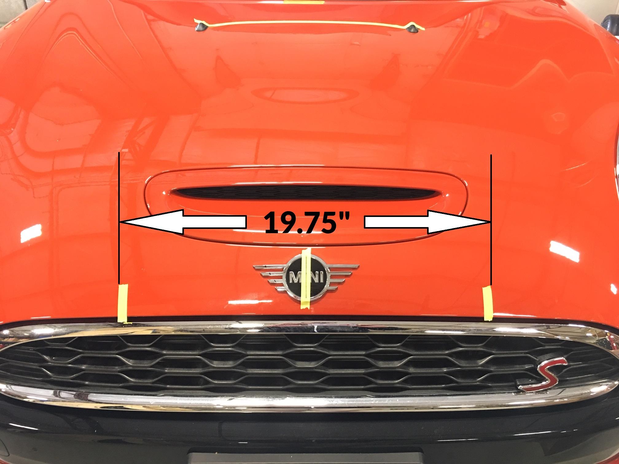 MINI F55/F56 Hood Stripe Decal Kit Installation Guide