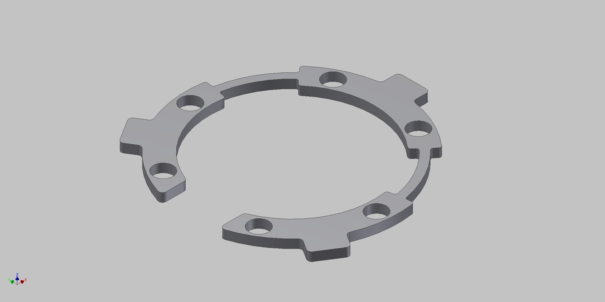 A render of our first locking mechanism.